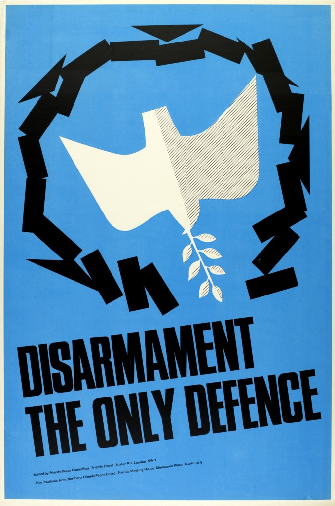 A poster publicising the need to disarm