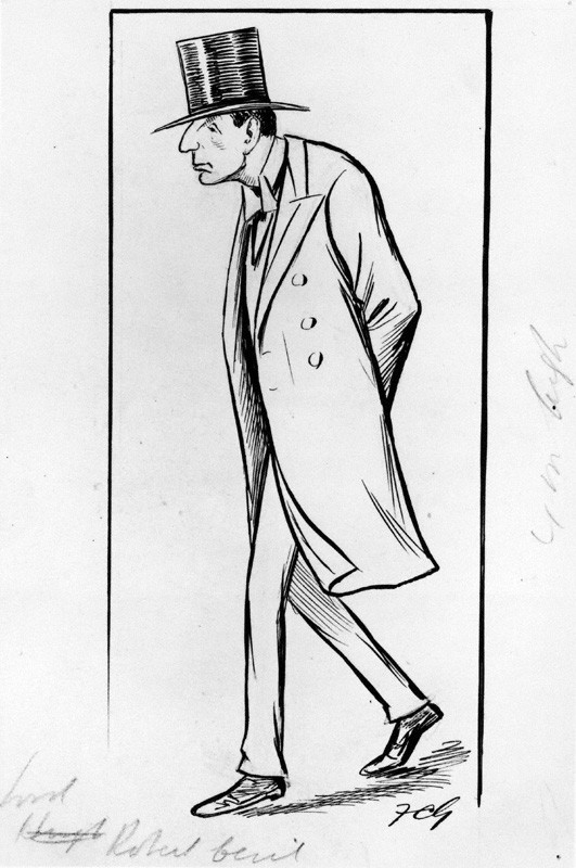 Caricature of 1st Viscount Cecil of Chelwood by Sir Francis Carruthers Gould ('F.C.G.')