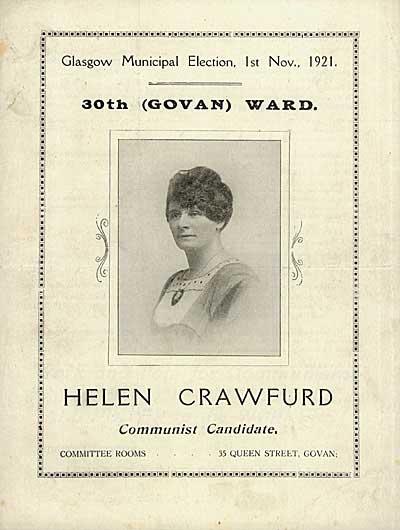 Helen Crawfurd campaigning leaflet