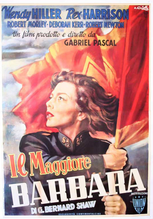 Film poster for Major Barbara, 1941