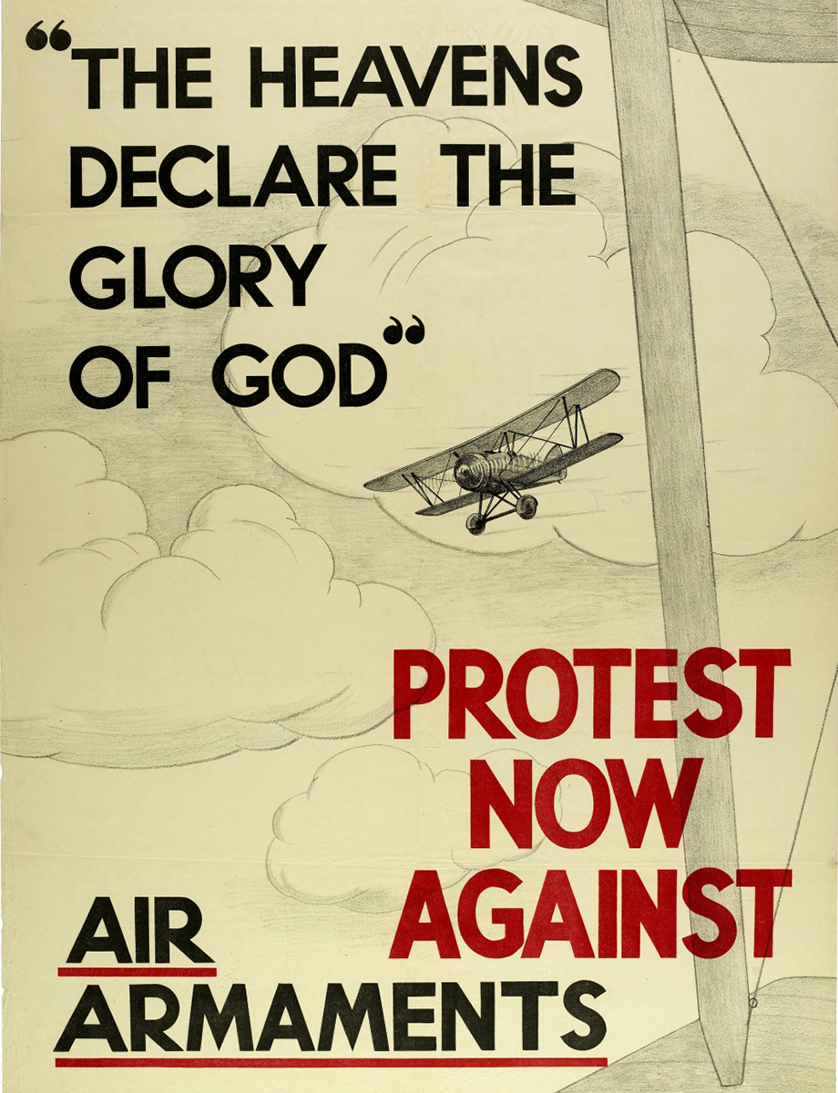 'Protest now against air armaments'