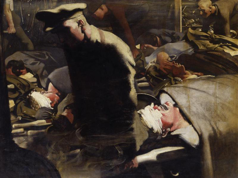 Gassed and Wounded by Eric Henri Kennington, 1918.